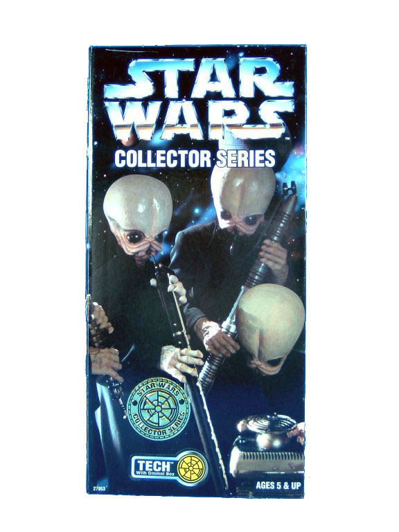 "1997 Star Wars POTF2 12"" CANTINA BAND TECH Sealed"